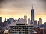 NYC Cityscape with the One World Trade Center (1WTC) at Sunset Photographic Print by Philippe Hugonnard