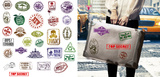 Vintage Stamps Travel Stickers Stickers