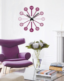 Modern Times Clock Wall Decal Autocollant mural