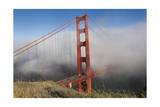 Golden Gate Bridge Tower in Fog 10 Photographic Print by Henri Silberman