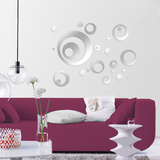 Mirrorcircle Mirror Decal Autocollant mural