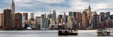 Panoramic Skyline Manhattan with Empire State Building and Chrysler Building Photographic Print by Philippe Hugonnard