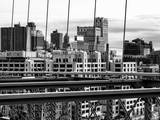 View of Brooklyn Bridge of the Watchtower Building Fotografie-Druck von Philippe Hugonnard