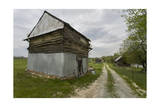 Old Log Tobacco Barn and Dirt Road Photographic Print by Henri Silberman