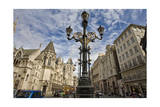 Historic Buildings with Lamp Post Photographic Print by Henri Silberman
