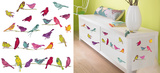 Talking Birds Home Tattoo Wall Decal Autocollant mural