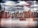 Instants of NY Series - Skyline Manhattan with Empire State Building and Chrysler Building Photographic Print by Philippe Hugonnard