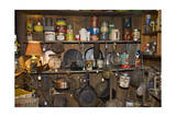 Vintage Cookware and Tins on a Shelf Photographic Print by Henri Silberman