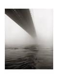 Niebla en el puente de Brooklyn Lámina fotográfica por Henri Silberman