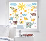 Animal Trip Window Sticker Decal Naklejka na okno