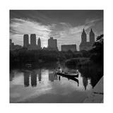 Gondolier Central Park at Dusk Photographic Print by Henri Silberman