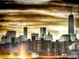 Instants of NY Series - Manhattan and the One World Trade Center at Sunset Photographic Print by Philippe Hugonnard