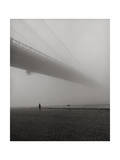 Lyn under Brooklyn Bridge in Fog Photographic Print by Henri Silberman
