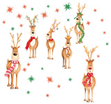 Rudolph & Friends Window Sticker Decal Window Decal