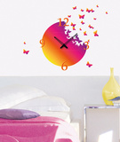Time To Fly Clock Wall Decal Autocollant mural
