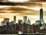 Manhattan and the One World Trade Center at Sunset Photographic Print by Philippe Hugonnard