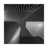 World Trade Center Looking Up Abstract Fotografisk tryk af Henri Silberman