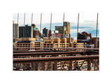 View of Brooklyn Bridge of the Watchtower Building Photographic Print by Philippe Hugonnard