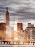 Instants of NY Series - Jetty View with City and the Empire State Building Photographic Print by Philippe Hugonnard