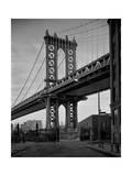 Manhattan Bridge Tower Brooklyn Reproduction photographique par Henri Silberman