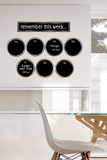 Remember This Week Chalkboard Wall Decal Autocollant mural
