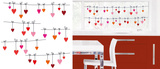 Hearts Washing Line Window Sticker Decal Stickers pour fenêtres