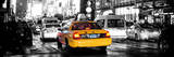 Panoramic Urban View - Yellow Cab on 7th Avenue at Times Square by Night Photographic Print by Philippe Hugonnard