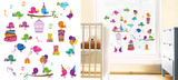 Birthday Birds Window Sticker Decal Vinilo para ventanas