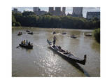 Gondola and Row Boats Central Park Afternoon Photographic Print by Henri Silberman
