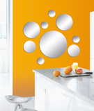 Sparkling Bubbles Mirror Decal Autocollant mural