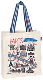 Paris Cityscape - Large Natural Tote Bag Tote Bag