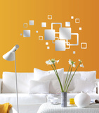 Mirror Squares Mirror Decal Wall Decal