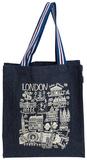 London Cityscape - Large Denim Tote Bag Borsa shopping
