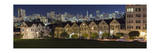View of Painted Ladies from Alamo Square Park 2 Photographic Print by Henri Silberman