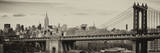Panoramic Landscape View of Midtown NY with Manhattan Bridge and the Empire State Building Papier Photo par Philippe Hugonnard