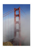 Golden Gate Bridge Tower in Fog 1 Photographic Print by Henri Silberman