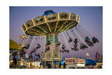 State Fair Ride at Dusk Photographic Print by Henri Silberman