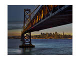 Oakland Bay Bridge with San Francisco Skyline Photographic Print by Henri Silberman