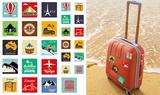 Around the World Travel Stickers Stickers