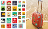 Around the World Travel Stickers Stickers