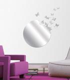 飛び立つ蝶の群れミラータイプウォールステッカー・壁用シール ウォールステッカー