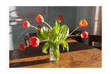 Red Tulips in a Vase Photographic Print by Henri Silberman
