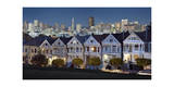 Painted Ladies Alamo Square Evening Photographic Print by Henri Silberman