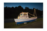Old Fishing Boat on Land at Dusk Photographic Print by Henri Silberman