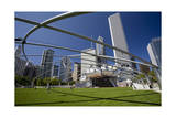Frank Gehry Opera House Millennium Park Chicago Photographic Print by Henri Silberman