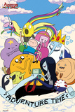 Adventure Time - Clouds Stampe