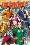 The Big Bang Theory - Super Heroes Poster