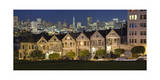 View of Painted Ladies from Alamo Square Park Photographic Print by Henri Silberman