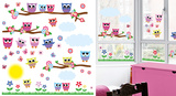 Sweet Owl Family Window Sticker Decal Stickers pour fenêtres