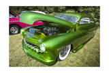 Vintage Green Car with Open Hood Photographic Print by Henri Silberman